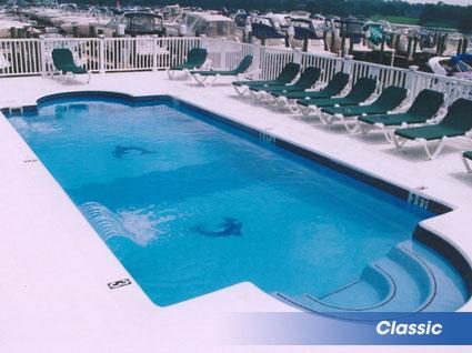 Clic Shaped Inground Swimming Pools